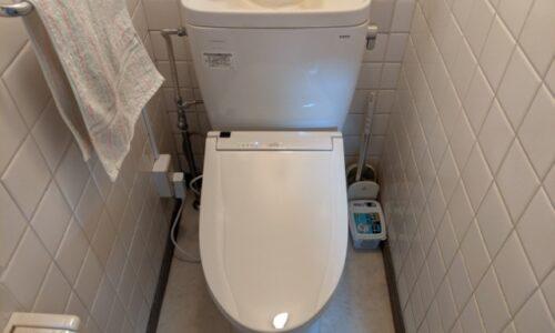 藤枝市高洲トイレ便座交換