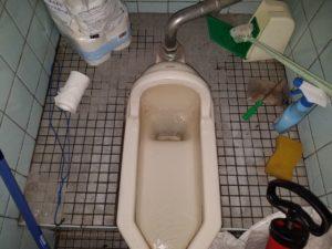 和式トイレつまり除去