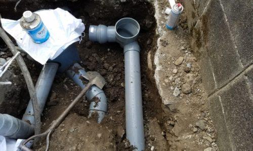 三島市谷田 排水管修繕工事