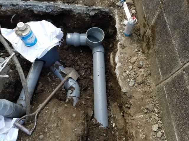 三島市東本町 排水管工事