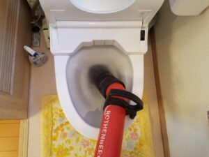 トイレつまり直し