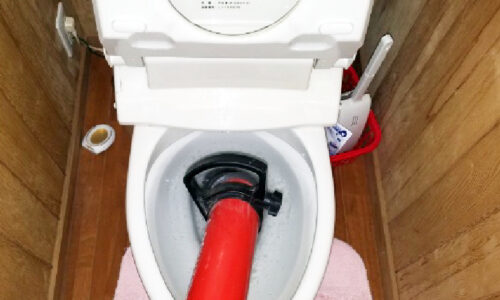 藤枝市高柳 トイレつまり除去
