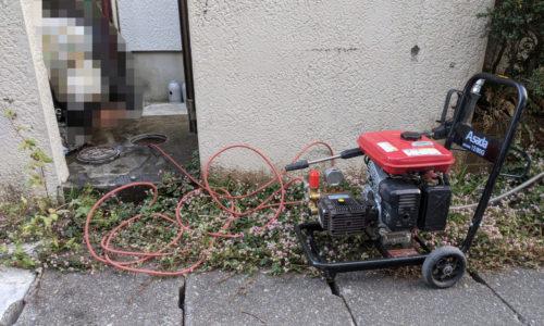 静岡市葵区 高圧洗浄作業