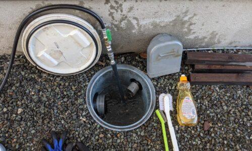 静岡市清水区 屋外排水つまり