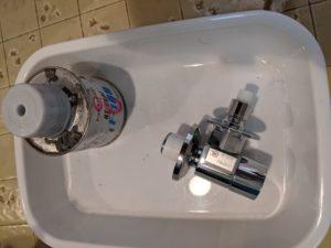島田市月坂 洗濯水栓交換