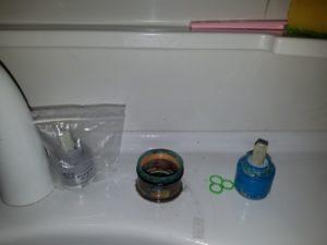 三島市 洗面水栓修理