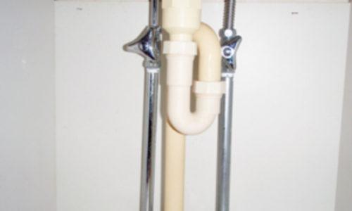 洗面所の水道管 修理工事(静岡市葵区)