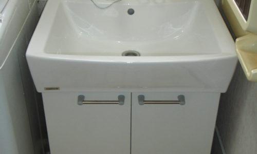 洗面化粧台交換工事(静岡市葵区)