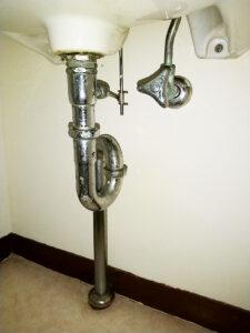 洗面排水トラップ交換
