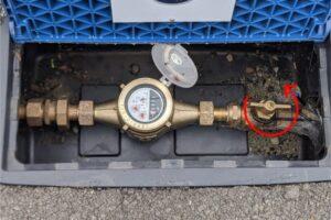 ボール式止水栓 通水状態